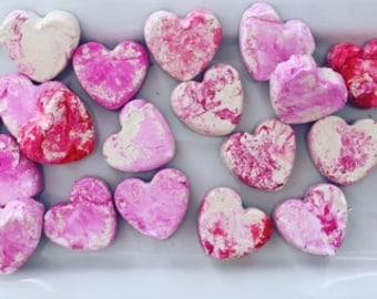 Handmade Clay Hearts