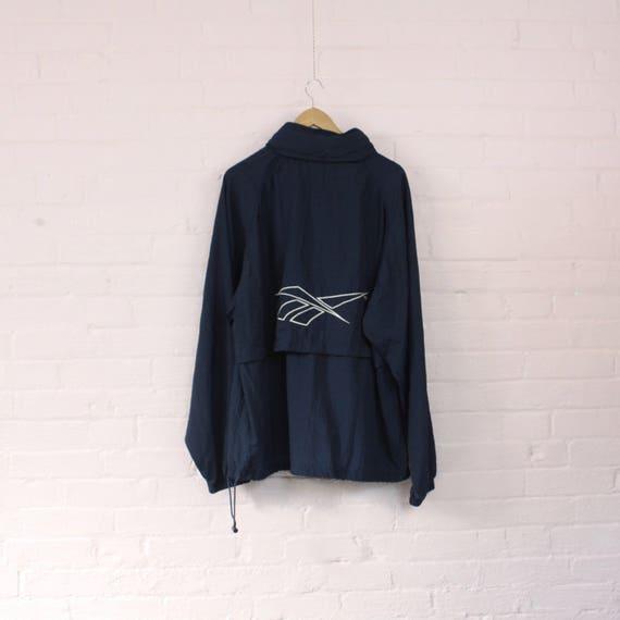 1990s Reebok Windbreaker Jacket · Vintage Tracksuit · XL Reebok Rain Jacket · Vintage Reebok · Retro Windbreaker · Vintage Reebok Top · XL Ni2HOF6I2
