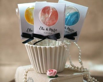 Personalised Wedding Favours And Party Lollipops Gifts