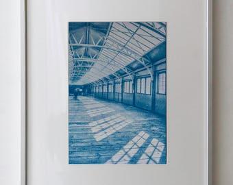 Wemyss Bay Ferry Terminal/Isle of Bute/Scotland/Cyanotype Print