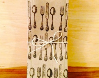 25 Cutlery Bags | Silverware Pouches | Utensil Bags