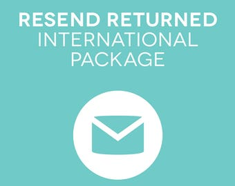 Resend Package Via International Post - All countries besides Australia