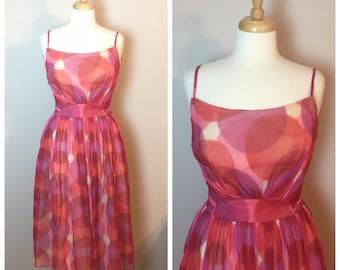 Vintage Emma Domb 50's Fit Flare Dress