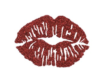 KISS LIPS Iron On Design, Valentine's Tee-shirt, Lips Clothing, Kiss Lips Party Favors