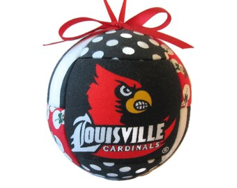 Louisville Kentucky Christmas Ornament, Gift For Him, Gift For Her, Collectible , Home Decor, Holiday, Sports Fan, Red and Black, Sports Fan