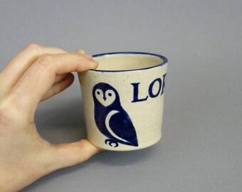 Personnalisé coupe de l'enfant: Woodland Animal tasse en céramique à la main avec prénom personnalisé