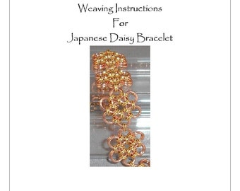 PDF Instructions Japanese Daisy Chainmaille Bracelet
