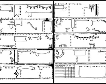 Bullet Journal Printable Planner Inserts - I Heart Flags