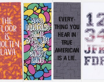 True American Bookmarks inspired by New Girl
