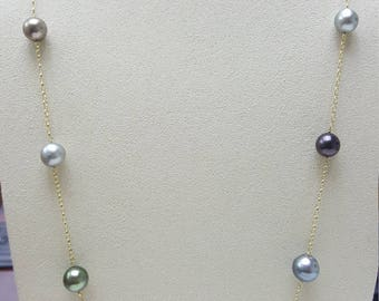 South Sea Pearl Necklace, 8-10mm, AA/AAA quality, near round/oval shapes, 32inchs