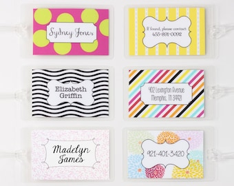 Personalized Luggage Tags Custom Bag Tag Kids Diaper Bag Tag Travel Gifts Destination Wedding Favors Bridesmaids Gifts Bachelorette Party
