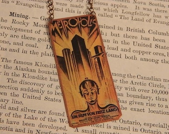 Metropolis necklace Vintage Movie poster Science Fiction Sci Fi Fritz Lang 1927