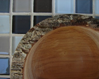 Hobbit Sized Wooden Bowl of Maple with Bark Edge (501)
