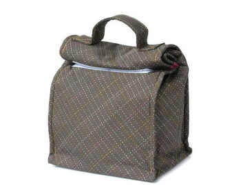 MTO Insulated lunch bag with handle - Stitches