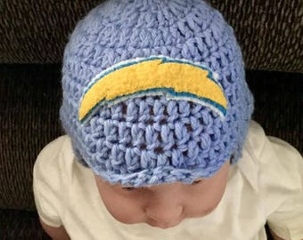 Infant Chargers Aviator-style Football Beanie