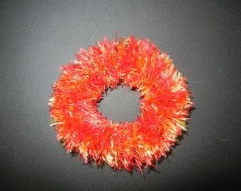 Red and Yellow Lei Lauoho (Scrunchie)