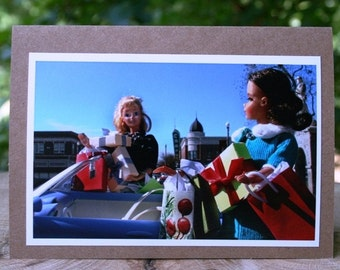 Shopping on the Square note card