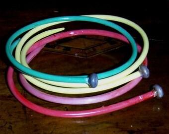 handmade bangles ... VINTAGE KNITTING needle BRACELET Bangle item11 ...