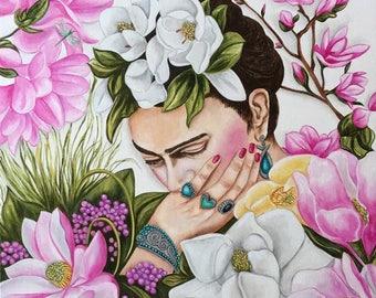 Print, Frida Kahlo, Frida Kahlo Art Print, Frida, Mexican Decor, Mexican Artist