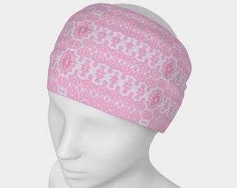 Rosado headband, circular scarf, face warmer, sweatband, athletic band, hair accessory