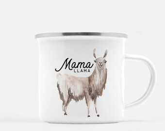 Coffee Mug, Llama Mug, Mama Llama, Funny Coffee Mug, Mothers day Gift, Gift for Mom, Gift for Wife, New Mom, Baby Shower Gift, camp mug