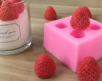 Strawberry Candle  Mold/ Strawberry Silicone Mold/candy, chocolate,cupcake, cakes tool, baking tools