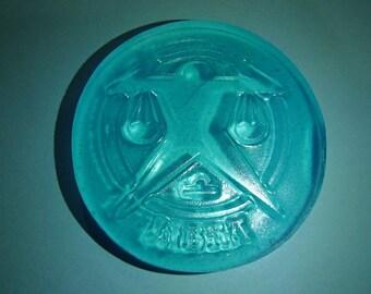 Blue Libra Sign Glycerin Soap