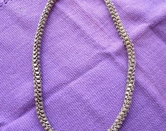 PRICE REDUCED Vintage sterling silver thick chain from India
