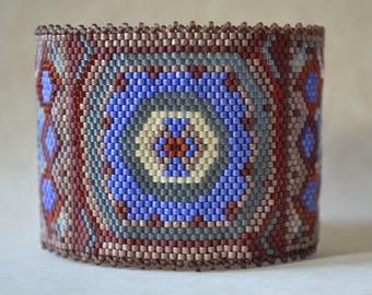 Peyote Bracelet Cuff, Seed Bead Bracelet, Beaded Bracelet, Bracelet, Cuff, Handmade