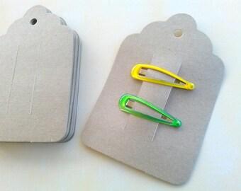 Kraft-Haar-Clip-Karten, 25 Karten, Haarspange Karten, Clippie Karte, Bobby Pin-Karte Produkt-Tag
