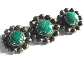 Green Turquoise Bar Brooch