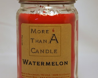 16 oz Watermelon Soy Candle