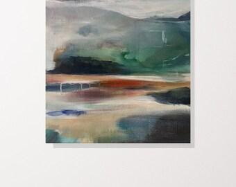 Jumping Rocks, ORIGINAL painting 18x24 Acrylic on Canvas