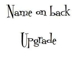 Add name on back upgrade