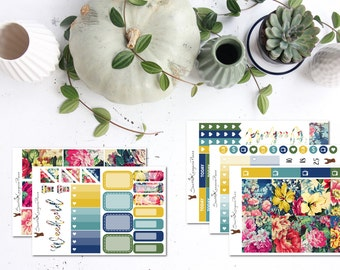 Floral Pantone || Weekly Planner Kit (125+ Planner Stickers) || Erin Condren, Happy Planner, Recollections || SeattleKangarooPlans