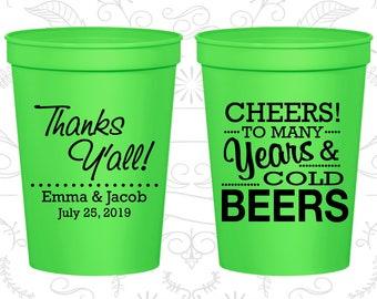 Neon Green Stadium Cups, Neon Green Cups, Neon Green Party Cups, Neon Green Wedding Cups (570)