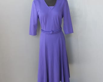 1980s Dress, Purple, Secretary Dress, Career, Day, Petite  Size 8 by Melissa Petites
