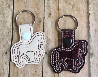 Curly Horse Keychain, Cream or Bay Horse Key Fob, Charity Donation