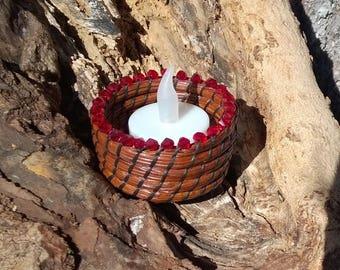 Beaded Pine Needle Basket