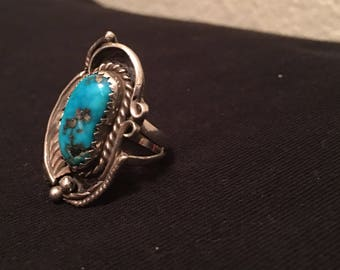 Vintage turquoise ring size 7.