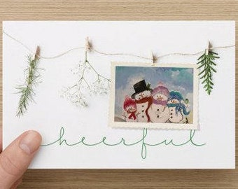 Snow Family Holiday Cards-Various