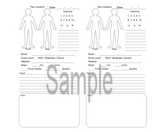 The Original Fibromyalgia Health, TN, Traveler's Notebook, Midori-, B6, Printable, Digital Download
