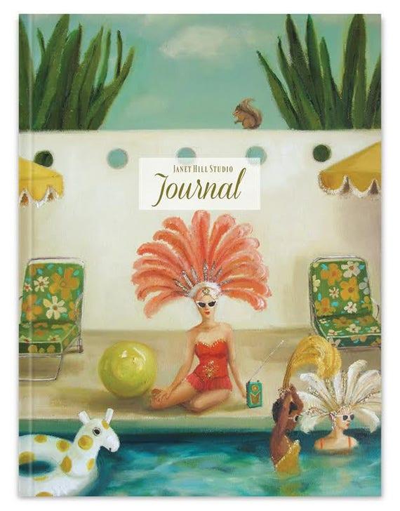 Poolside Blank Journal