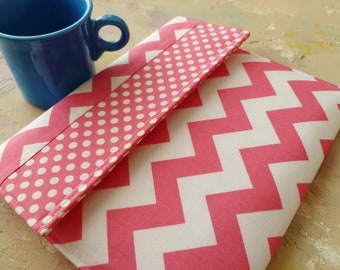 iPad Cover,iPad Air Case,  Padded ipad Case Sleeve, Gadget Cases & Covers for ipad 1, 2, 3 and ipad mini  in Pink Chevron and Polka Dots