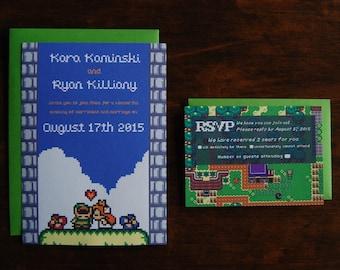 The Legend of Zelda Wedding Invitation Set (75 units)