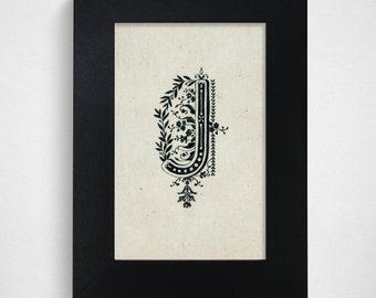 "Hand Drawn Original Monogram Letter J / 4x6"" / Made-to-Order"