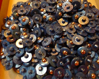 300 tiny vintage buttons plastic gray