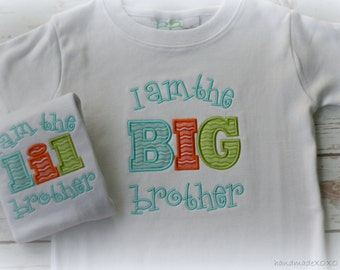 Big Brother Little Brother Shirts-Big Brother Shirt-Little Brother bodysuit-Matching Brother Gift Set-Sibling Shirts