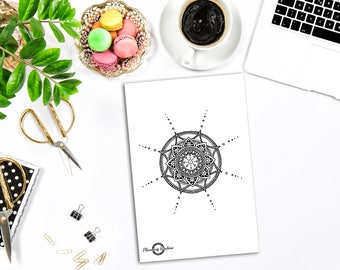Mandala Sticker, Mandala Planner Sticker, Cute Mandala Sticker