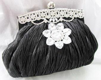 bridal clutches, bride bridesmaid, wedding, bridal hand bag, rhinestones brooch,  bridal purse, wedding clutch, bridal handbag